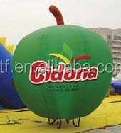 2014 hot sale custom new fashioned inflatable replica,inflatable green apple replica ,promotional inflatable