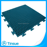 Basketball court synthetic outdoor flooring