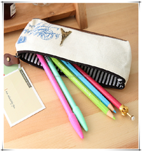Hot Selling Cotton Canvas White Pencil Pouch For Children Or Office