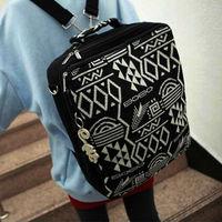 2013 New arrival Women's Canvas With Drawing Shoulder Bag Backpack vintage Handbag