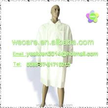 Laboratory Coats, Standard, Disposable, Three-Pocket, 5 Snap-Front, Non Woven, Sturdy Polypropylene