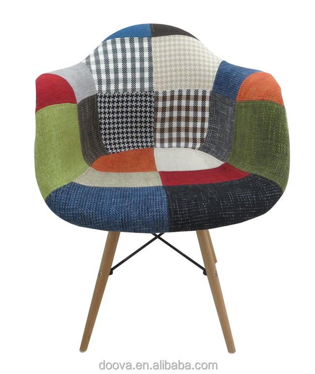 Chaise d 39 h tel 100 famille tissu chaise eames chaises de for Chaise eames tissu