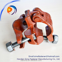 Different construction types of scaffold clamps swivel double coupler