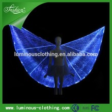 Superhéroe vestido de lujo led Super hero wing disfraces