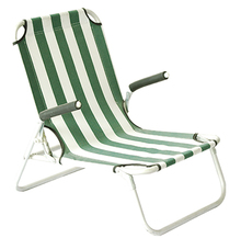 Promotional strong folding beach chair with comfortable sleep and sit feeling, adjustable