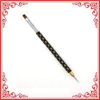 B016 Best Price 2015 Hot Profashional Phototherapy Wholesale 50pcs Alloy Two Way Nail Art Pen With Brush