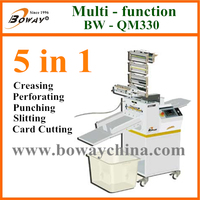 19 year BOWAY QM330C auto high speed office round hole paper punch shape