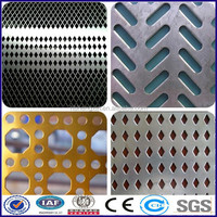 High quality 304 316 409 Perforated stainless steel sheet