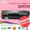 High quality compatible toner cartridge Q2612A for HP 12A 2612A