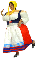 German standard party /event show German lady costume for fat--24515