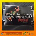 Custom baratoefecto de espejo tarjeta de visita del metal