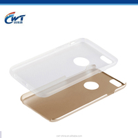 CWT fancy 2015 Hot selling ODM OEM Stock aluminum tpu hybrid mobile phone shell for iphone 6