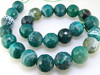 Green Faceted Agate Gemstone Beads 16mm