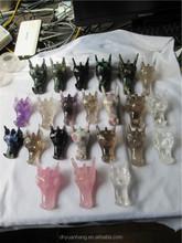 wholesale good quality different kinds of quartz crystal dragon head skulls,life size crystal skull