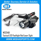 Tactical Flashlight LED Flashlight and Red Laser Sight for Picatinny Rail