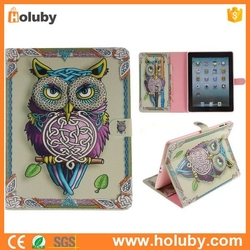 Wallet Flip Stand TPU+ PU Leather Case for iPad 4 The New iPad iPad 2