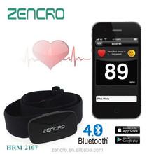 bluetooth monitor della frequenza cardiaca con fascia regolabile per iphone