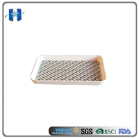 High quality rectangle plastic tray melamine cake plate