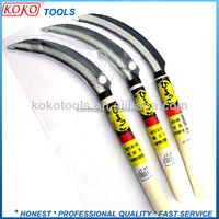 Hand farmer straight shape farming knife wooden handle sickle