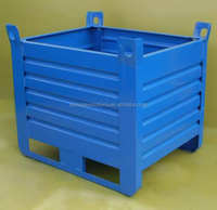 Heavy duty steel pallet box container