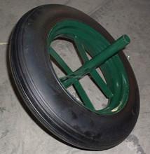 "14""x4"" wheel barrow solid rubber wheel"