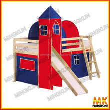 China Modern Fashionable Kids Bunk Bed the slide bed with tent