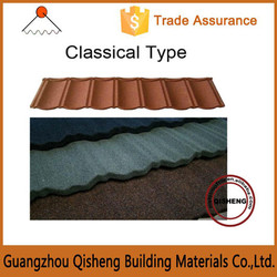 Zinc coated steel roof tile/Stone Coated Metal Roof Tile/Mix color construction metal roofing tile