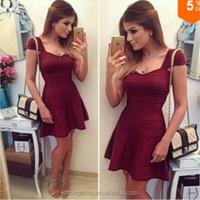 Women Summer Dress 2015 Fashion Solid Color Vestidos Ladies Casual Short Sleeve Basic Dresses Casual Dress