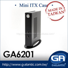 GA6201 Low profile Fanless HTPC case thin Mini ITX