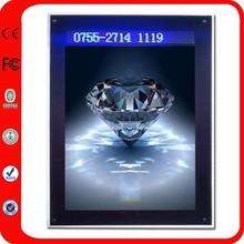 Marco Digital de Crystal redondo de acrílico para foto de recuerdo Hecho a medida en China