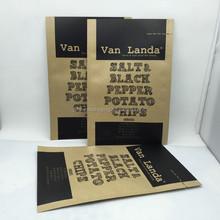 Biodegradable food grade Potato Chip brown kraft paper bag