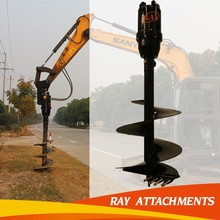 2015 hot selling backhoe auger attachment for excavator with good reputation