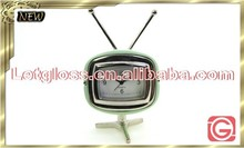 Eye-catching zinc alloy TV shaped standard clock