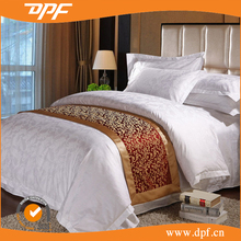 100% cotton jacquard white luxury wedding bedding for hotel use