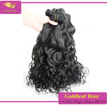 double weft popular style soft and shiny natural wave peruvian hair