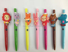 logo print custom 3d anime figures cartoon ball pen bulk cheap wholesale