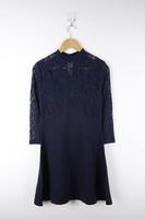 Elegant Lace Mock Neck Latest Formal Dress Patterns