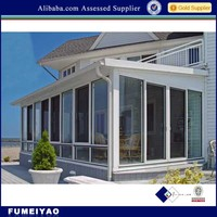 Aluminum veranda sun room/high quality aluminum glass sun rooms/Aluminum balcony sunroom