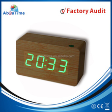 high quality LED digital table wooden clock with alarm