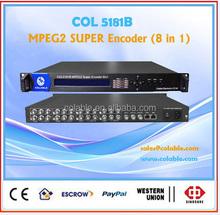 VOD MPEG-2 Super encoder ,8 in 1 encoder ,cable tv digital encoder COL5181B