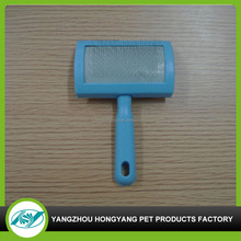 New design plastic handle pet brush for grooming with high quality