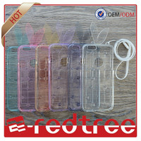 Mobile phone accessories cellphone high quality soft clear tpu case for iphone 6