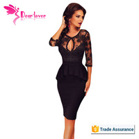 Sexy elegant Three Quarters Sleeve Embroidery Black new party wear in pakistan