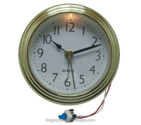 Insert clock with Chrome plating frame for 76mm