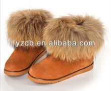 100% sheepskin classic style lady snow boots with OEM brand