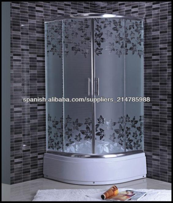 Snuofan esmerilado de vidrio templado de cabinas de ducha for Duchas con puertas de vidrio