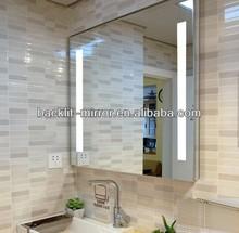 led backlit glass bathroom mirror,silvery mirror, hotel mirror