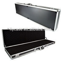 aluminum profile portable aluminum gun carrying case with safe lock and strong handle