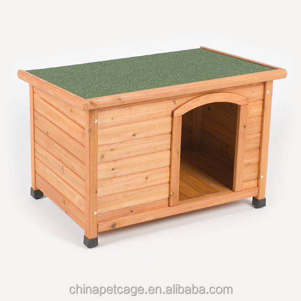 Flat wooden big dog house HX-G-006
