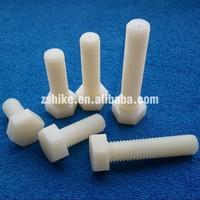 Plastic fastener Plastic Hexagon Head Bolts Full Thread nylon screw collar eye bolt Plastic screw
